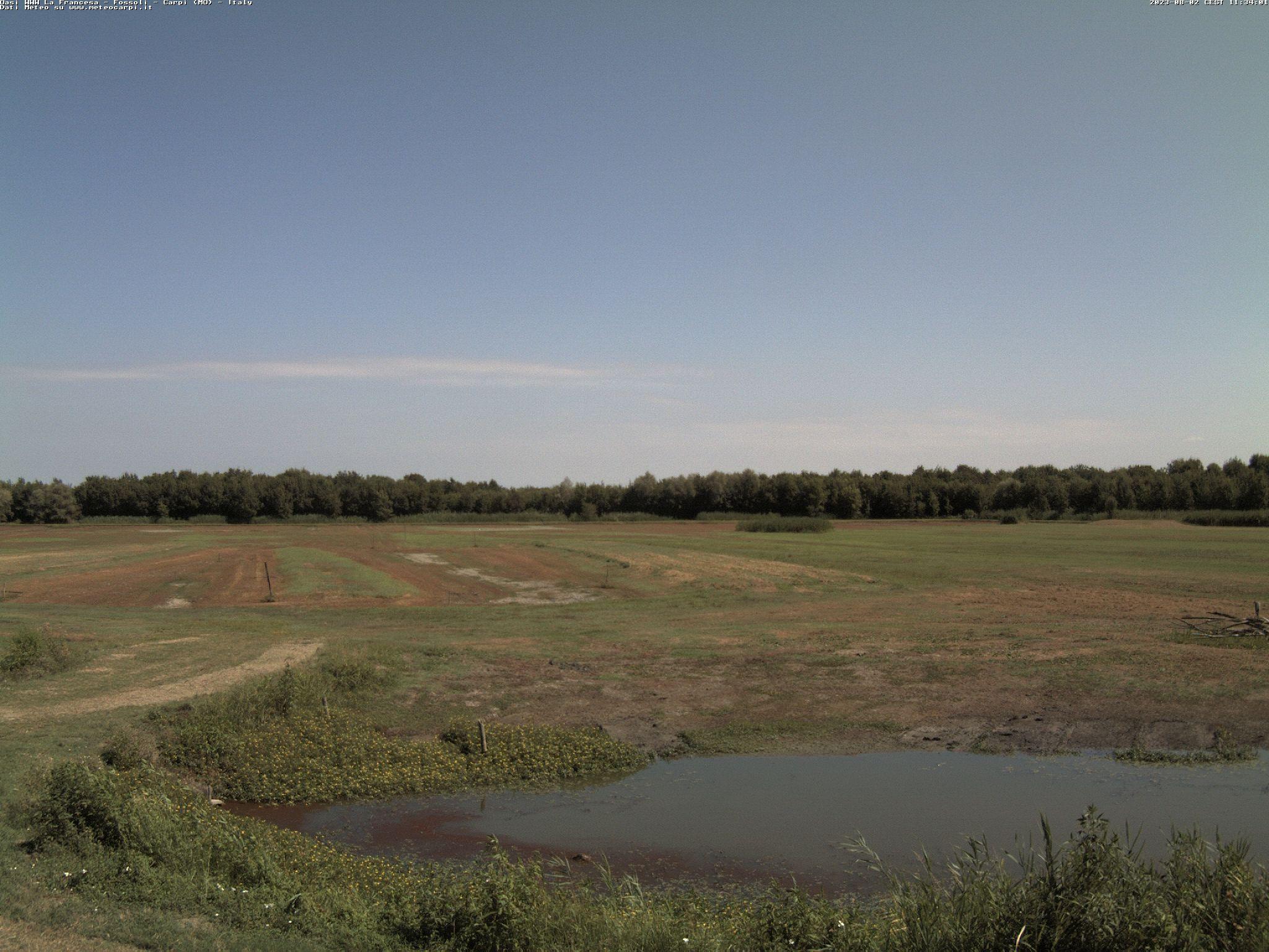 Osservatorio Carpi nord <br>Webcam puntamento nord<br> Carpi (MO)