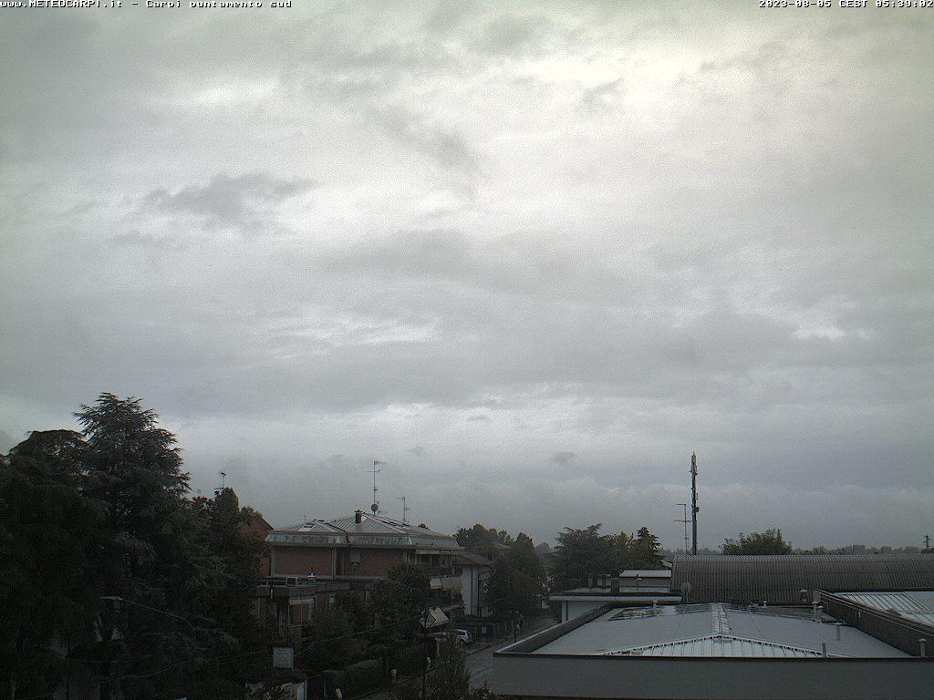 Osservatorio Carpi sud<br>Webcam puntamento sud<br>Loc. Quartirolo - Carpi (MO)